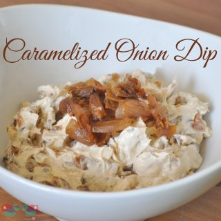 Caramelized Onion Dip - Nothing beats the fresh taste of this dip with deeply brown and sweetened onions! from The Love Nerds {http://thelovenerds.com}