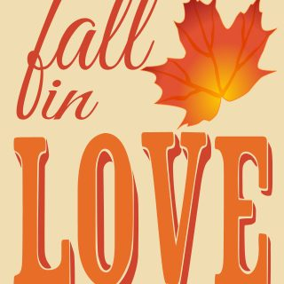 Fall in Love - A Free Fall Printable from The Love Nerds {http://thelovenerds.com}