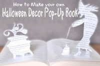 Make a unique Halloween Pop-Up book, using any theme! Cut out a Witch and her cauldron or even Frankenstein for a Monster Mash! {The Love Nerds} #Halloween #diy #crafts