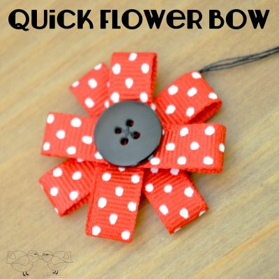 Easy Ribbon Flower Embellishment