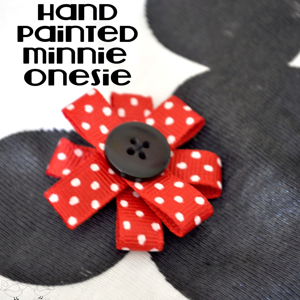Minnie Onesie with title