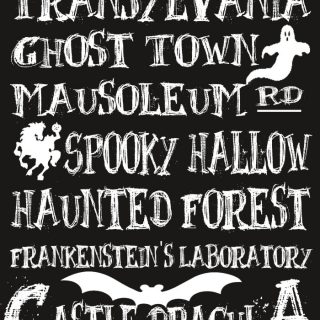 Halloween's Spooky Places {Free Printable}