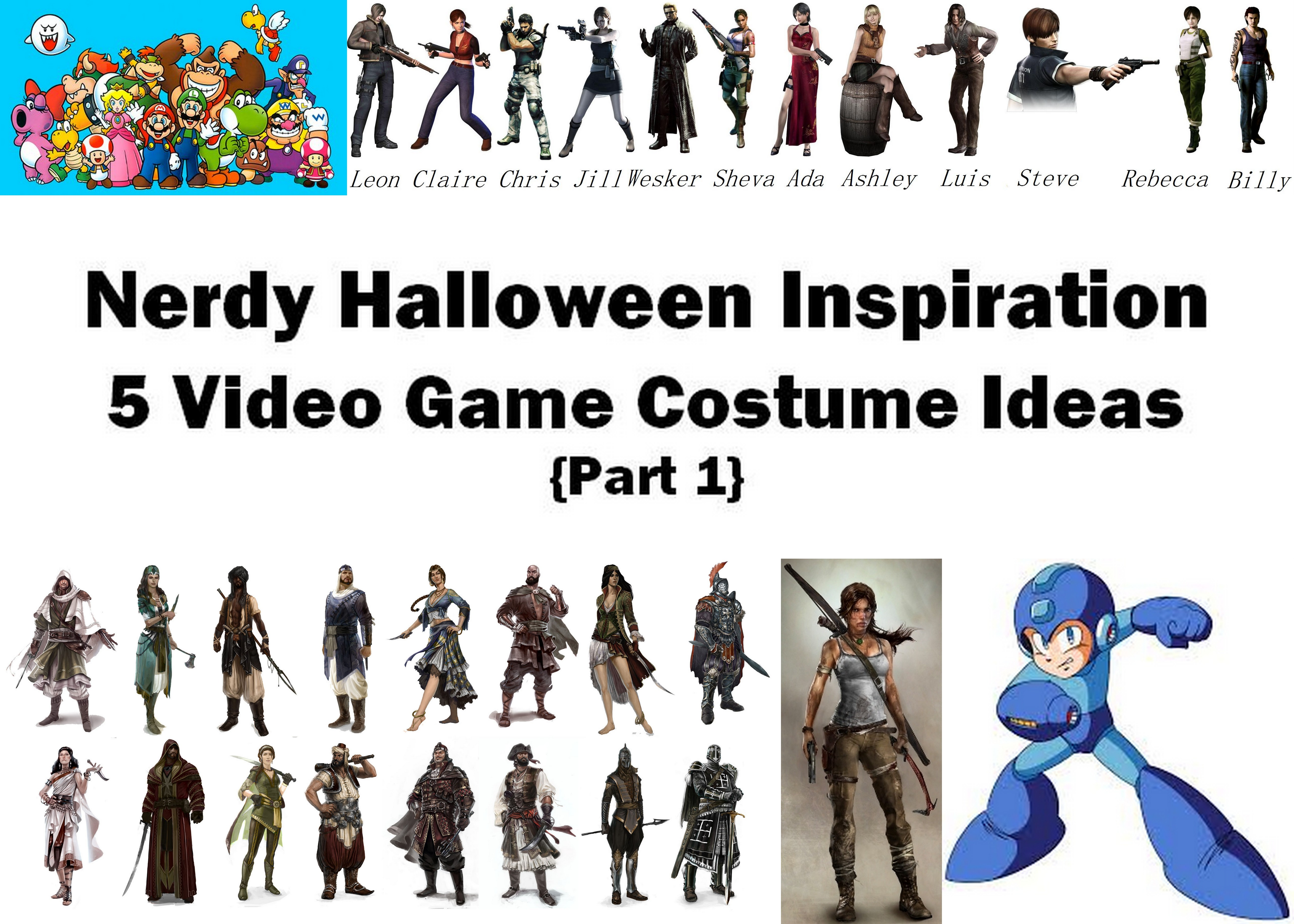 Halloween Video Game Costumes.Nerdy Video Game Halloween Costumes Part 1 The Love Nerds