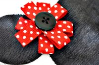DIY Minnie Mouse Onesie - An easy, homemade gift idea perfect for Minnie fans of all ages - just change the clothing item! {The Love Nerds}