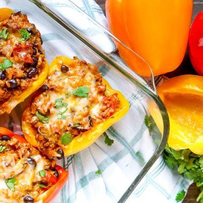 Hearty Turkey Stuffed Peppers