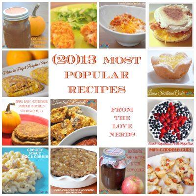 2013 Most Popular Recipes