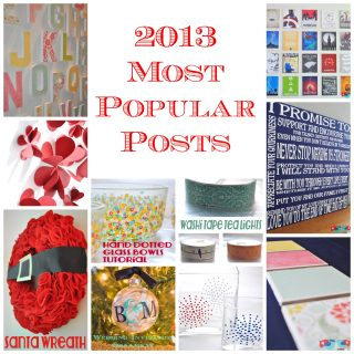 2013 Most Popular Posts {not counting recipes}