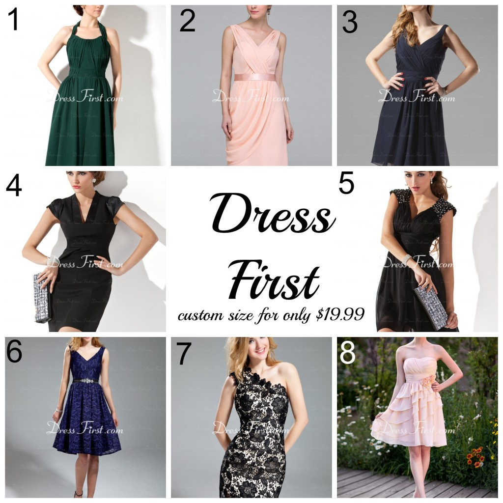 Dress First Collage with numbers
