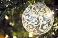 Hand Swirled Christmas Ornament