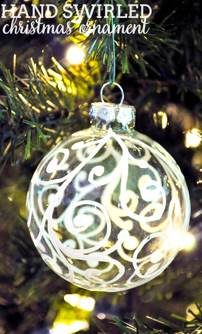 Who cares about crafting perfection when you can make something pretty and quick?! Take a paint pen and start making this Hand Swirled Christmas Ornament! | The Love Nerds