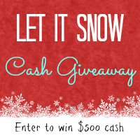 Cash Giveaway - $500 for the big winner with 5 other winners will get $50