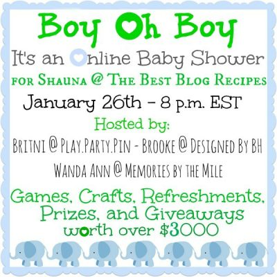 """""""The Best Blog Recipes"""" Baby Shower"""