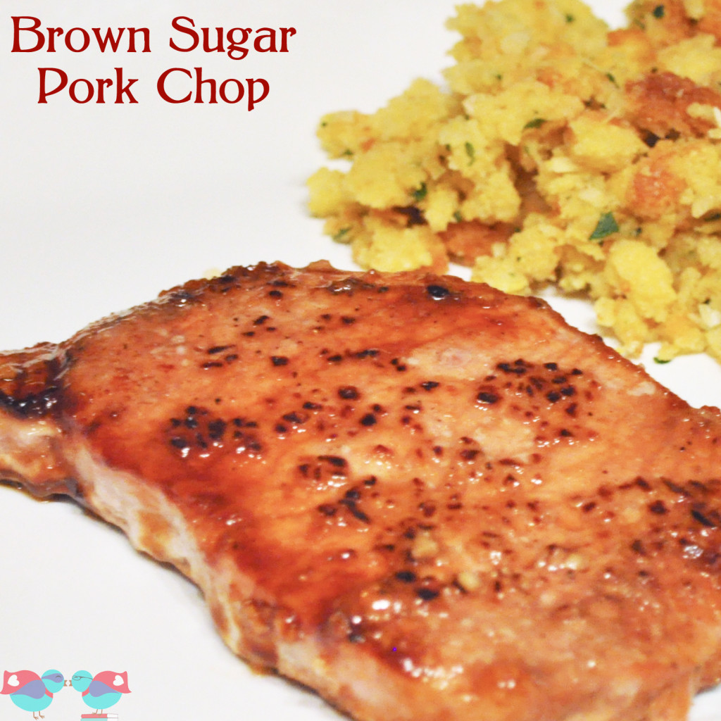 Easy Brown Sugar Pork Chop - So easy to prepare that it makes an amazing weeknight dinner! {The Love Nerds} #dinner #porkchop #porkrecipe