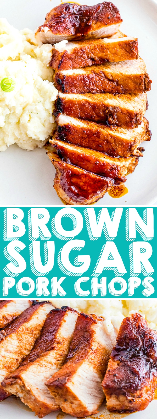 These easy Brown Sugar Pork Chops have a delicious sweet spice rub that gives your pork chops amazing flavor! With instructions for cooking on the stovetop, in the oven and on the grill, this will quickly become your go-to pork chop recipe! | THE LOVE NERDS #porkchoprecipe #easydinner #30minutemeal