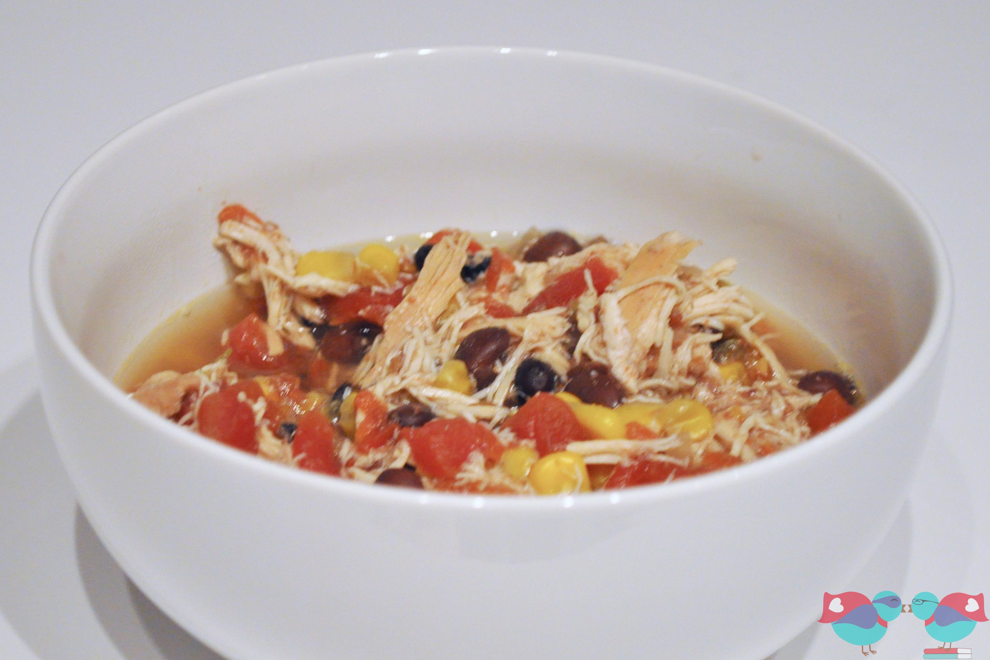 Crockpot Chicken Tortilla Soup With Black Beans & Corn ...