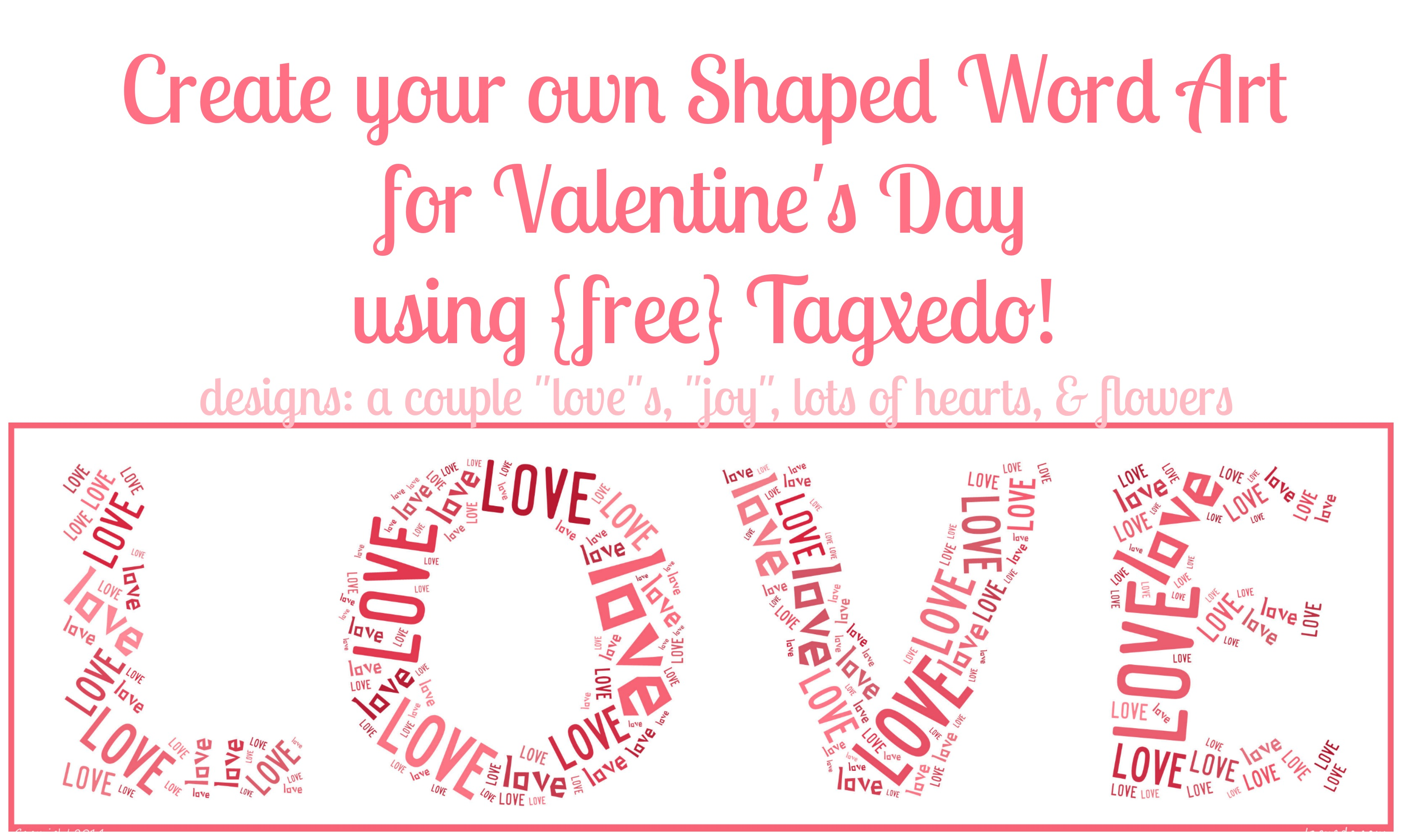 Free Shaped Word Art Online Valentine S Day Edition