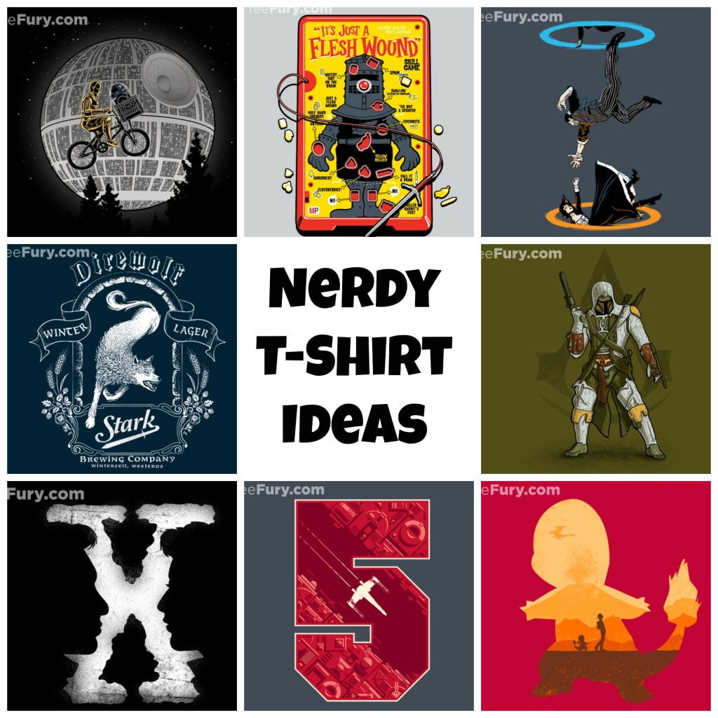 Nerdy T-Shirt Ideas from The Love Nerds #nerdy #geekery #nerdfashion #nerdygifts