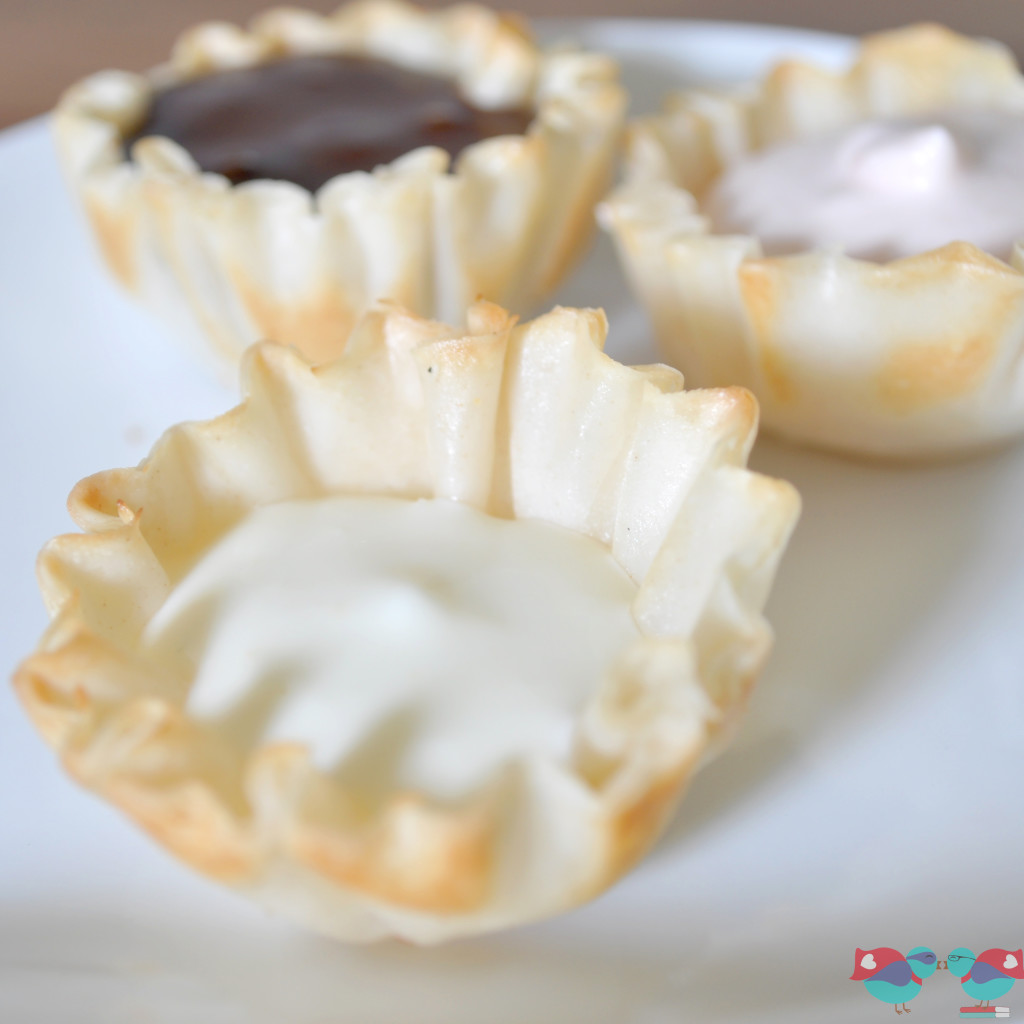 ... made mini phyllo cups or you can make your own cups using phyllo dough