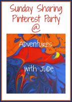 Sunday Sharing Pinterest Party with Adventures with Jude