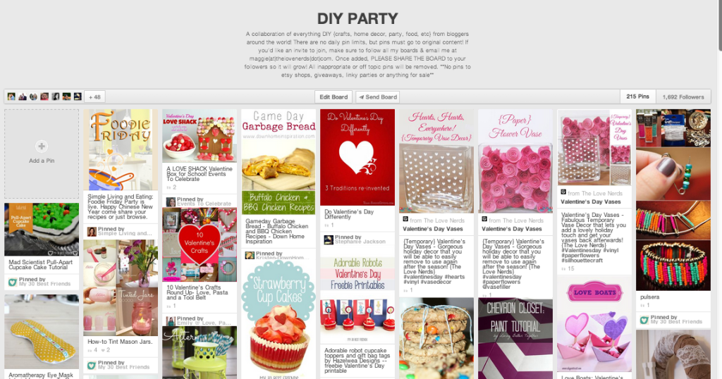 Fabulous DIY Party Board on Pinterest that you need to be following! Plus the importance of sharing group boards with your followers! {The Love Nerds} #Pinterest #socialmedia #diy #bloggers