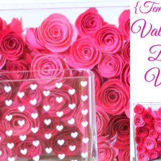 {Temporary} Valentine's Day Vases - Gorgeous home decor and vase filler that you will be able to easily remove once you want to change it up! {The Love Nerds}