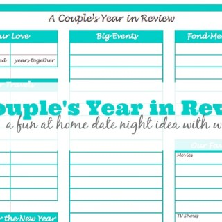 A Couple's Year in Review (I'm Dating My Husband Series}