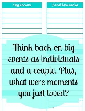 A Couple's Year in Review Fully Customizable Worksheet for you to reflect on the past and set goals for the future {The Love Nerds} #datingmyhusband #marriage #relationships #yearinreview