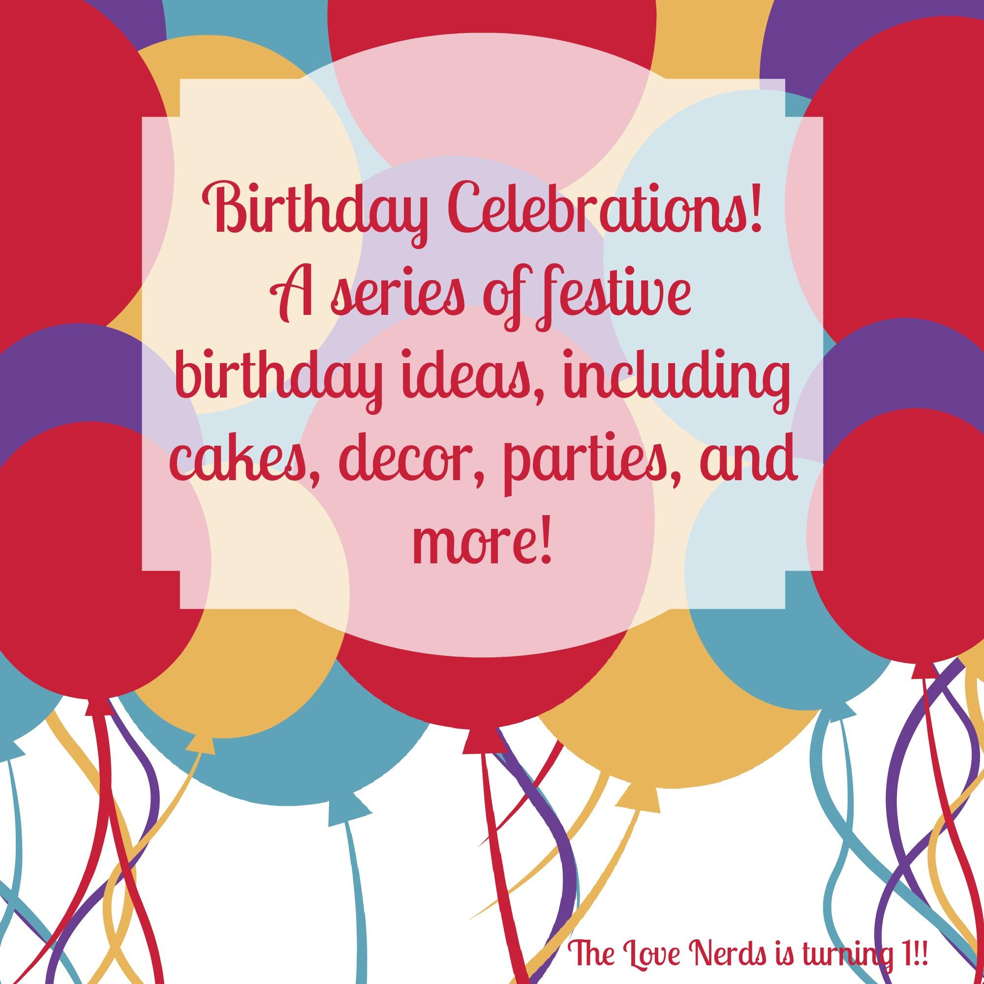 Birthday Celebrations: Mocha Cake W/ Hazelnut Buttercream