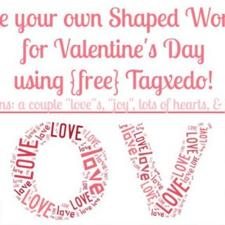 Free Shaped Word Art Online {Valentine's Day Edition}