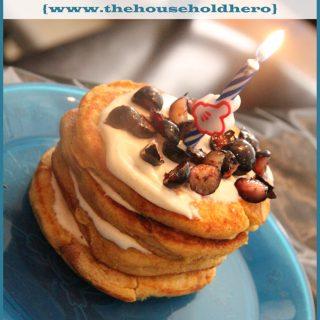 Birthday Celebrations: Healthy Cake Batter Birthday Pancakes