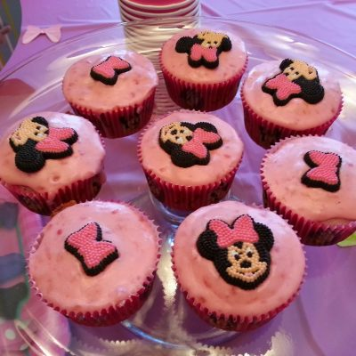 """Minnie"" Lemon Raspberry Cupcakes"