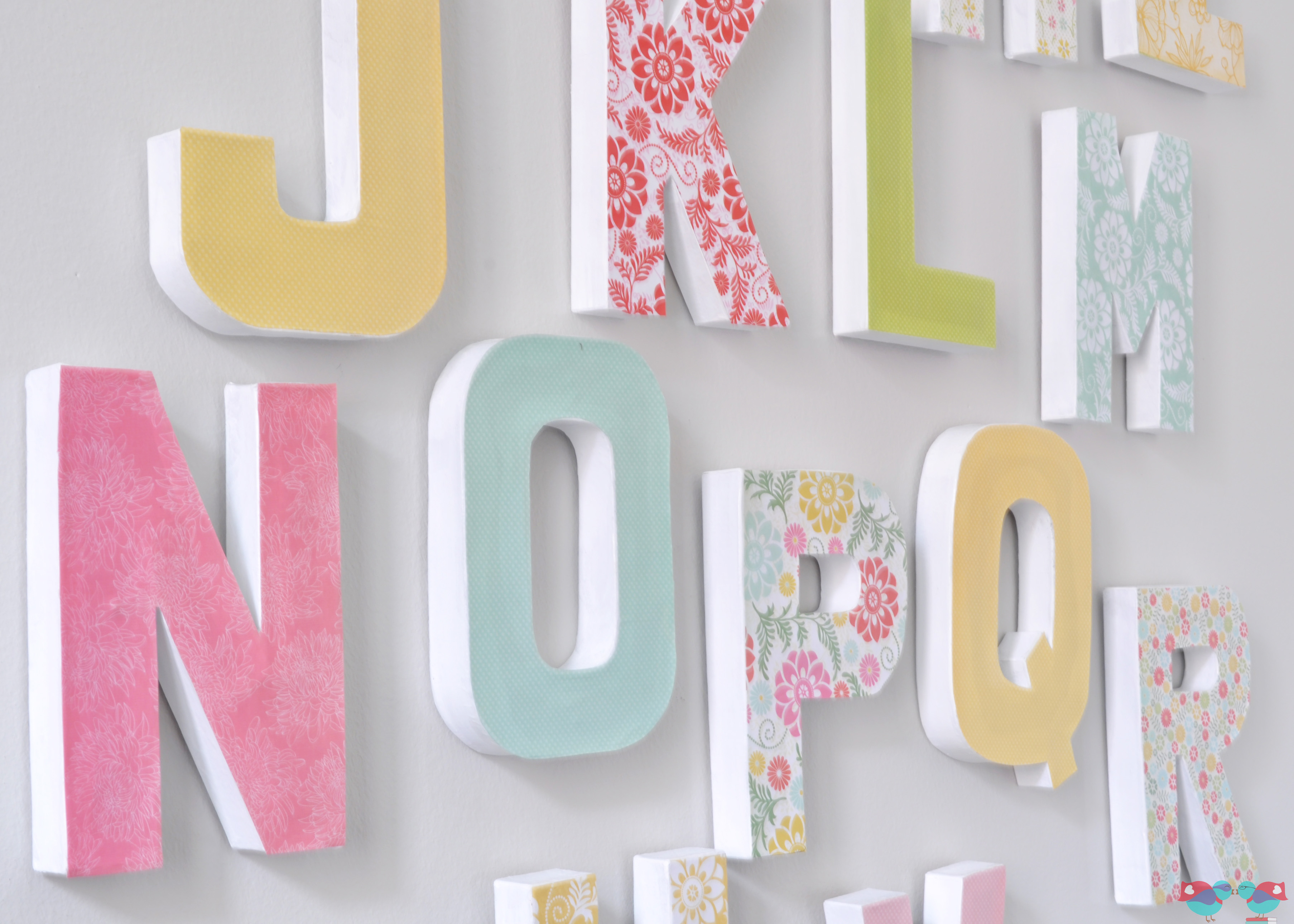 How to make your own letter wall the love nerds for Alphabet wall decoration