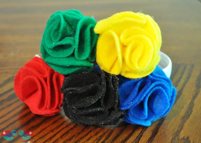 DIY Olympics Headband {The Love Nerds} #Olympicsparty #Olympicscrafts
