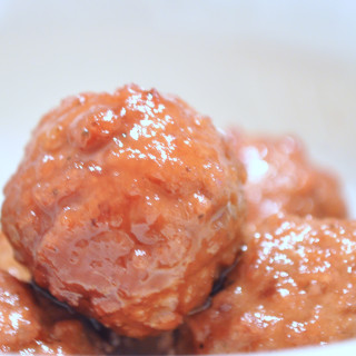 Crock Pot Sweet and Sour Meatballs - Perfect party food and a delicious dinner recipe over brown rice! {The Love Nerds} #crockpot #recipe #appetizer #dinner #partyfood
