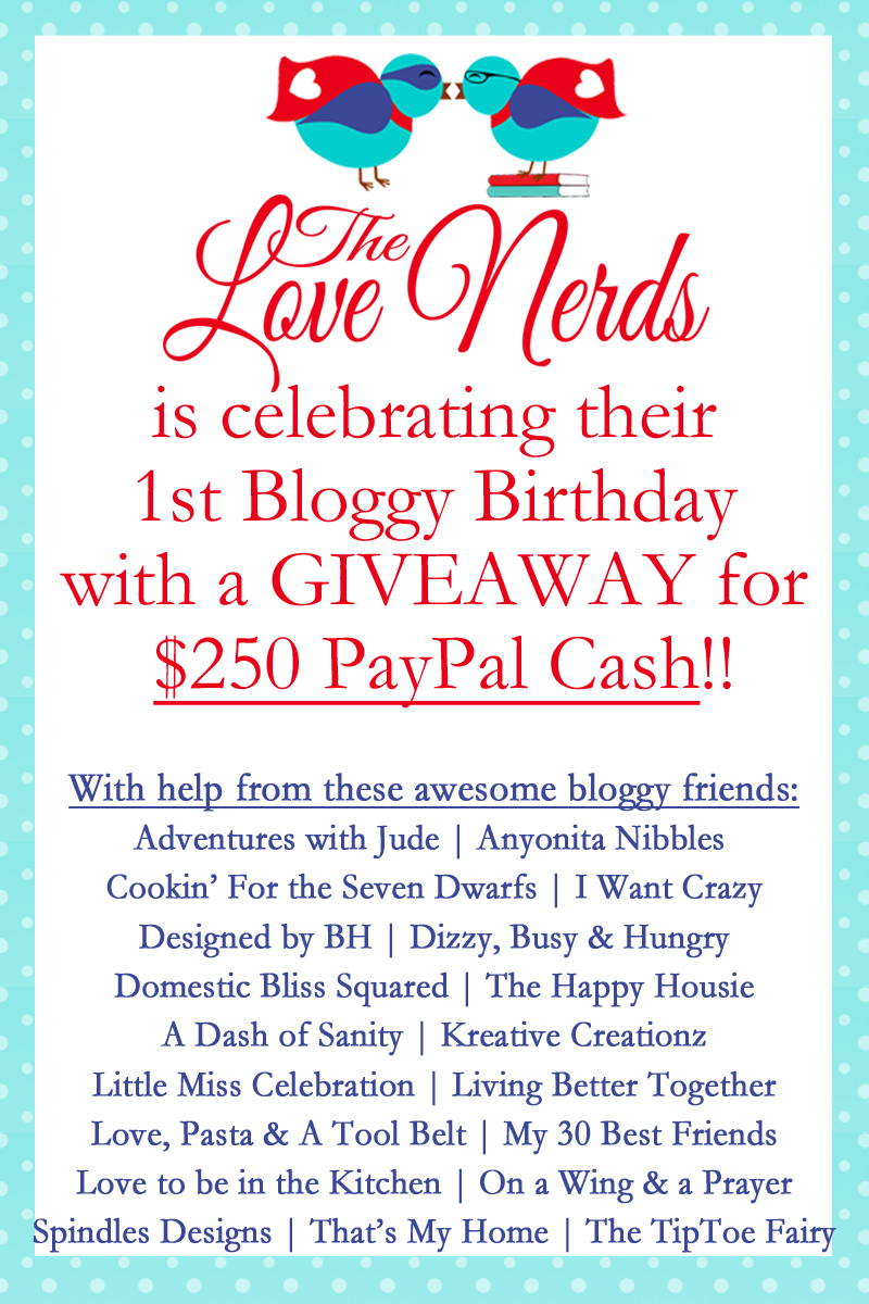 The Love Nerds 1st Bloggy Birthday