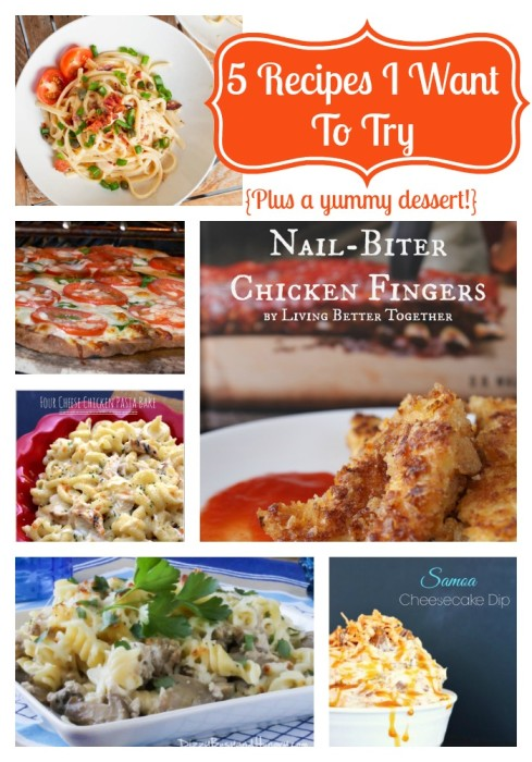 5 Recipes I Want to Try (Plus 1 Delicious Cheesecake Dip) {The Love Nerds} #newrecipes #dinnerrecipes #bloggers #roundup .jpg
