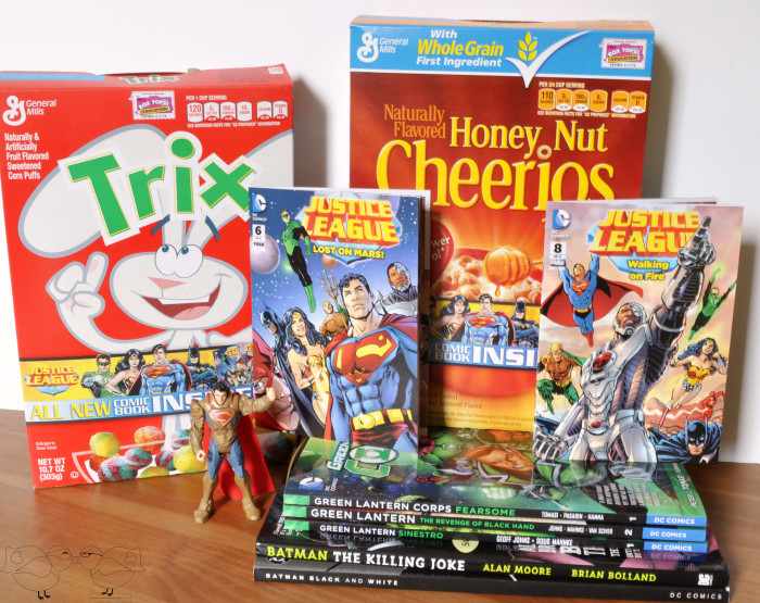 Superheroes are at the breakfast table! Pick up Big G Cereal for your collectible DC Justice League comic books! {The Love Nerds} #superheroing #cerealheroes