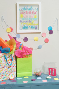 Birthday Decorations - Why not make someone's special day even more special with colorful and festive birthday decorations?! Come see a description of 5 different birthday projects! {The Love Nerds} #birthday #birthdayparty #birthdaydecor #crafts #diy