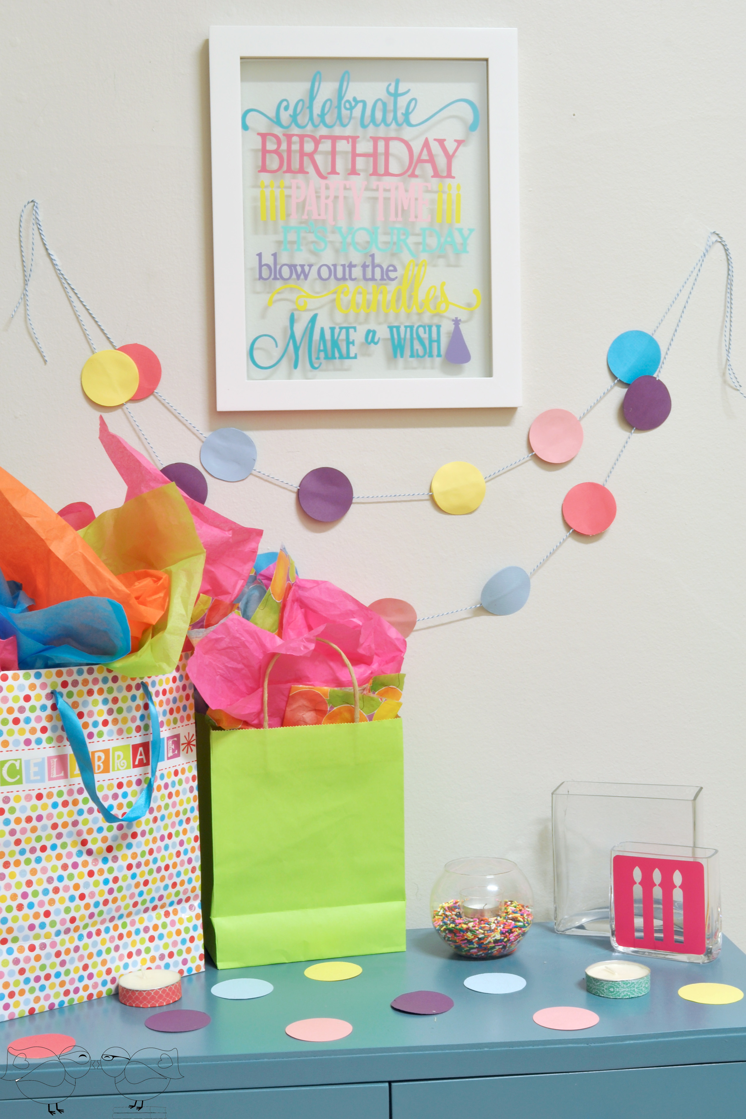 Colorful Birthday Decorations