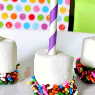 Birthday Celebrations: Chocolate Dipped Sprinkle Marshmallows