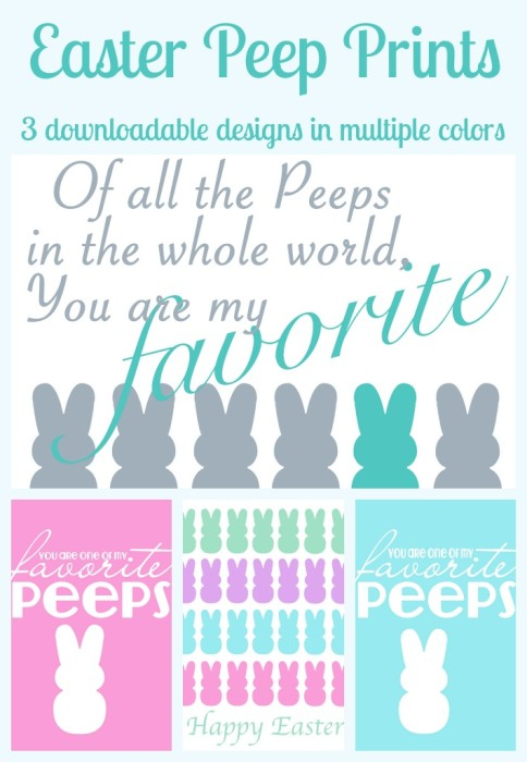 Easter Peep Printables - Come see a fun and colorful collection of free printables around the popular Easter Peeps! {The Love Nerds} #easterprint #peepprint