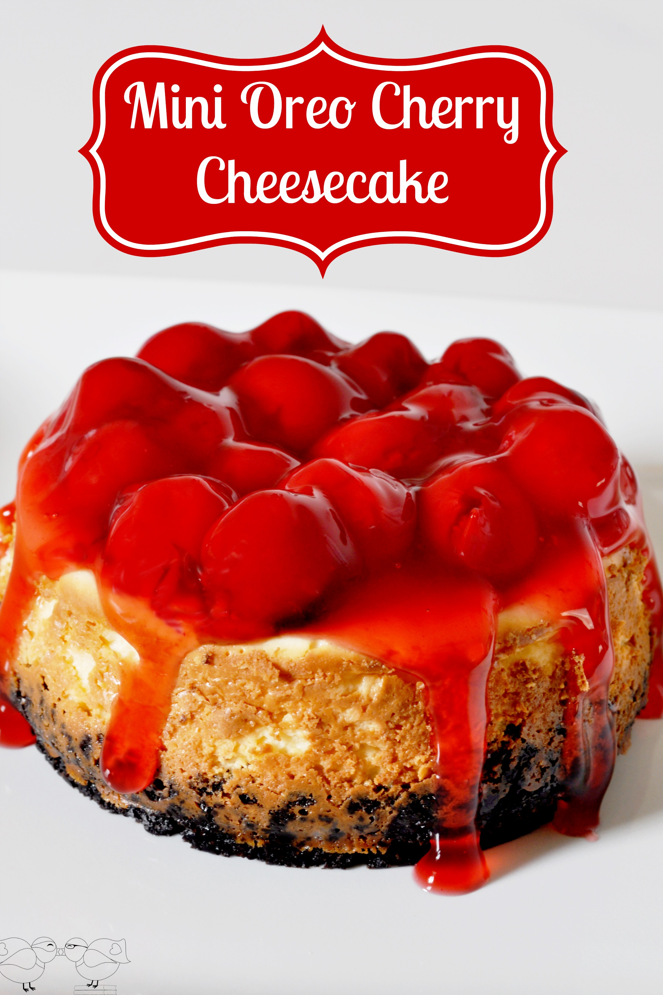Mini Oreo Cherry Cheescake