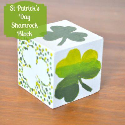 St Paddy's Day Shamrock Block