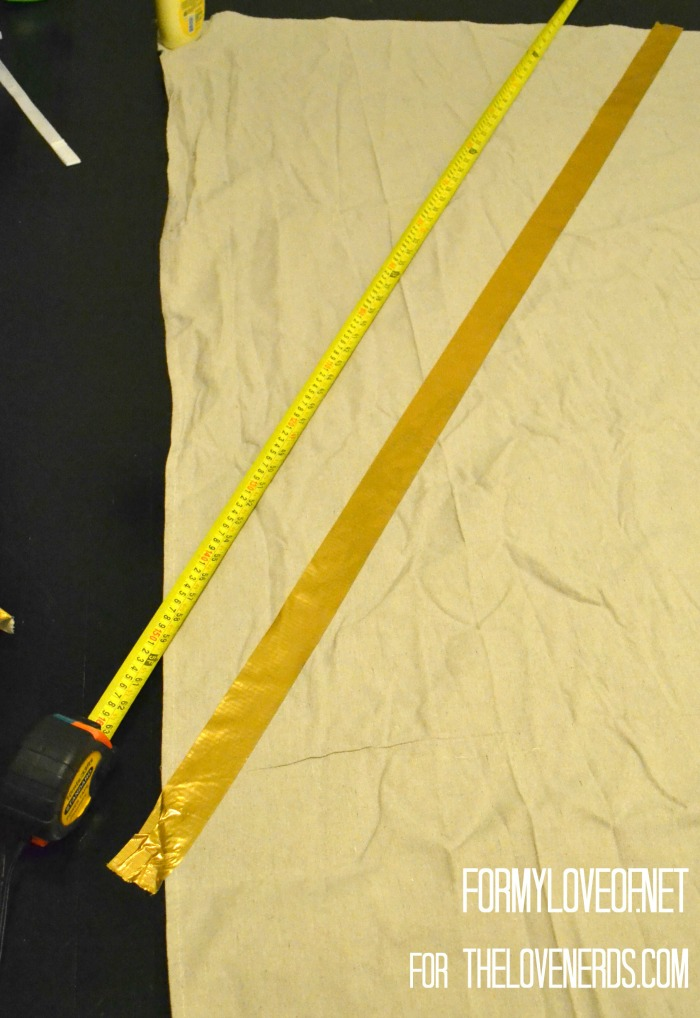 Connecting Center Points Using Tape Measure As Guide Line Gold Duct Tape Accent YouTube Filimg Curtains ForMyLoveOf for TheLoveNerds