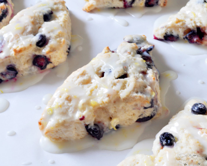 Glazed Lemon BlueBerry Scones {The Love Nerds} #recipe #scones ...