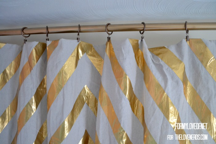 Hanging a Gold Duct Tape Accent YouTube Filimg Curtains ForMyLoveOf for TheLoveNerds