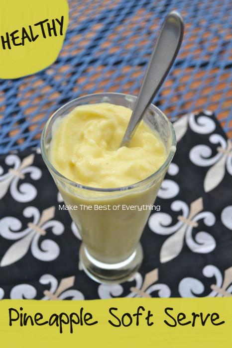 Healthy Pineapple Soft Serve