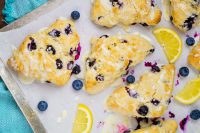 Glazed Lemon Blueberry Scones