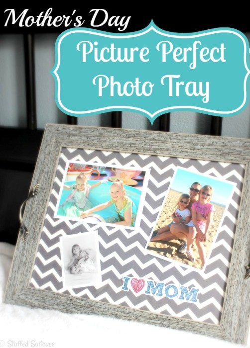 Make a personal Mother's Day Gift with this Picture Perfect Photo Tray {The Love Nerds} #crafts #diy #photoproject