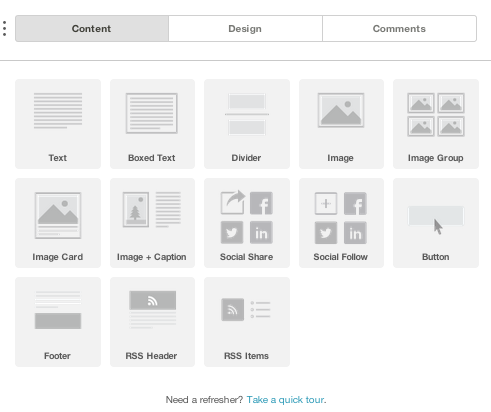 Starting a MailChimp Blog Newsletter - Design Options